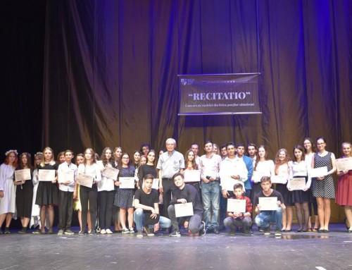 """Concursul """"RECITATIO"""" la cea de-a XII-a ediție"""