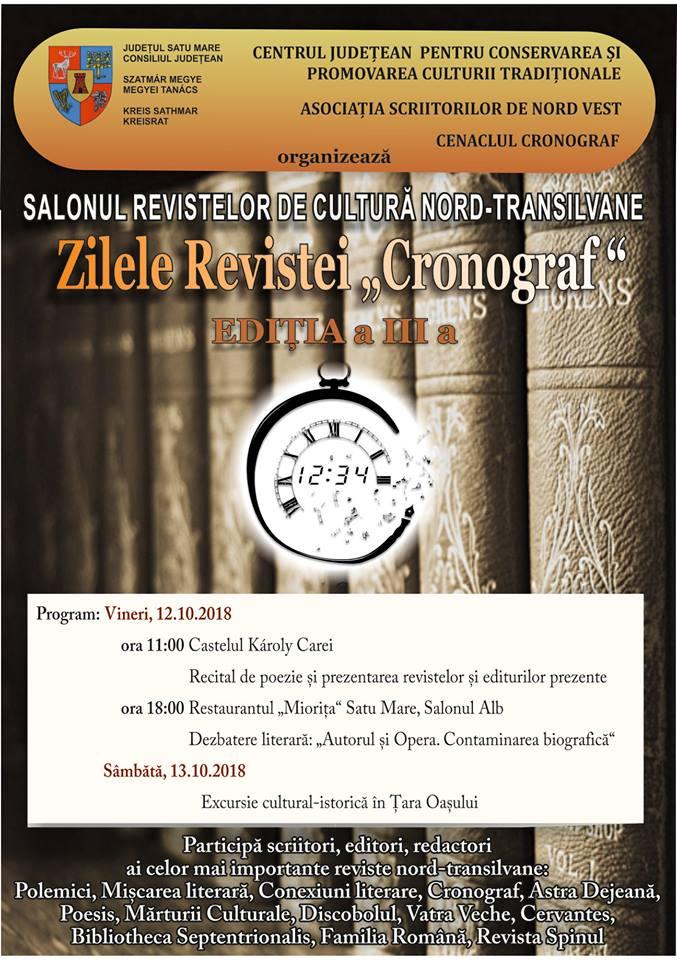 Salonul revistelor de cultură nord- transilvane și Zilele Revistei Cronograf